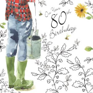 NES70 - 80th Birthday Card For Him